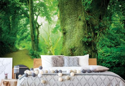 Green Forest wall mural paper wallpaper